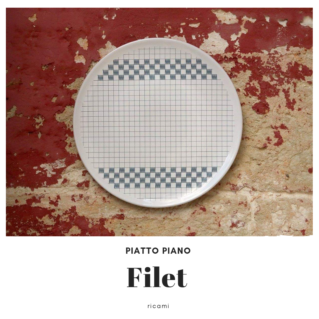 Piatto in ceramica Filet