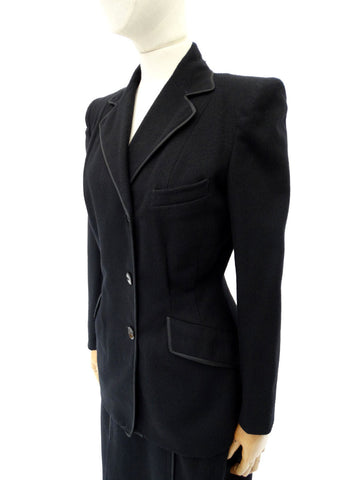 VINTAGE 1940s CC41 WW11 WOOL SUIT 6 8