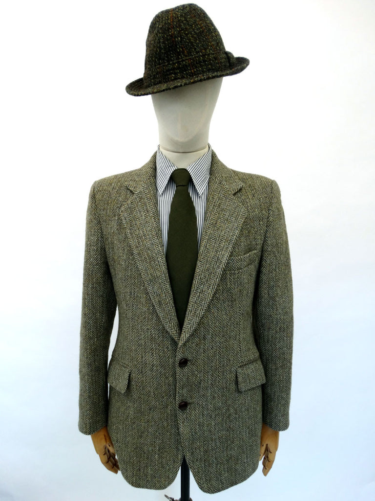VINTAGE 1970s HARRIS TWEED BLAZER 40 REG