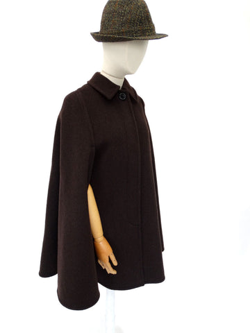 VINTAGE 1930s 1940s DEBEUHAUI FREEBOLF CAPE 8 10