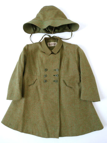 VINTAGE 1940s CC41 DOLLY COAT 3-4 Yrs
