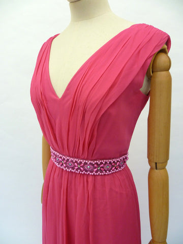 VINTAGE 1960s GRECIAN COCKTAIL DRESS 12