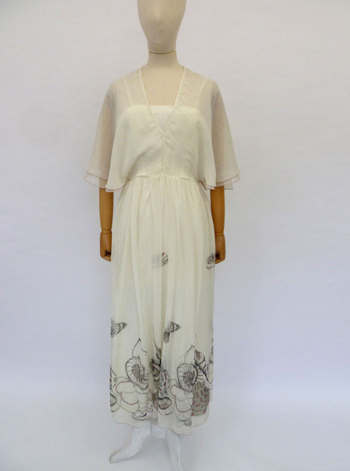 VINTAGE 1970s JEAN VARON DRESS 8