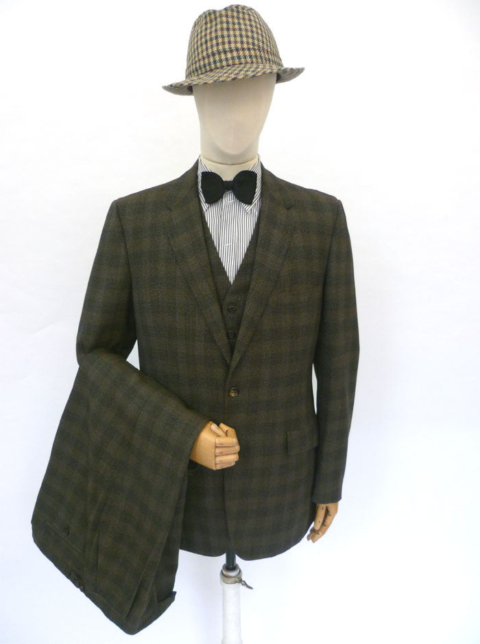 VINTAGE 1950s HARRODS SUIT 41 LONG W35