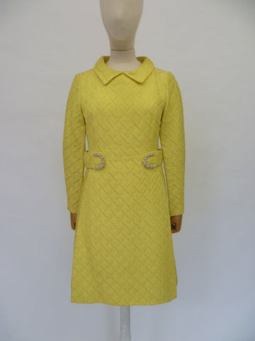VINTAGE 1960s PETER COLLINS SPACEAGE DRESS 10