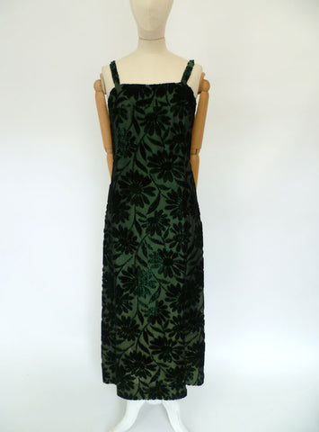 VINTAGE 1950s 1960s WIGGLE MAXI DRESS 12