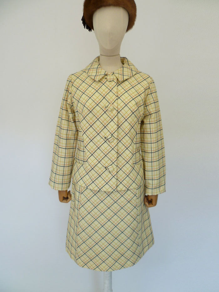VINTAGE 1950s TAILORED DRESS SUIT 14 16