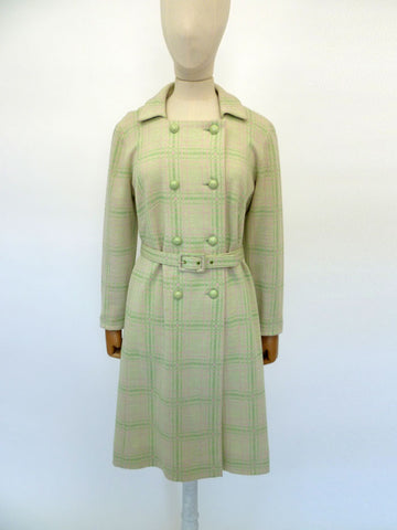 VINTAGE 1960s FENWICK WOOL DRESS 12