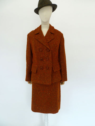 VINTAGE 1950s MATITA WOOL SKIRT SUIT 16