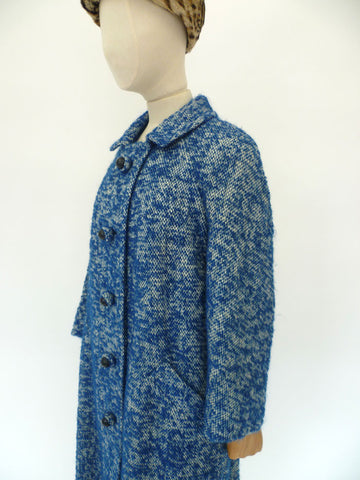 VINTAGE 1950s MAXANNE COUTURE SWAGGER COAT 12