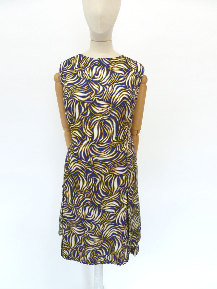 VINTAGE 1960s CARNEGIE DRESS 14 16