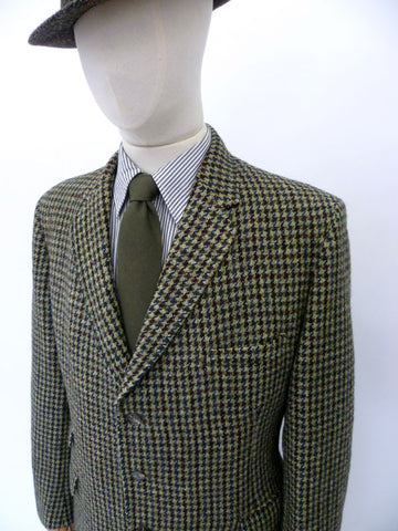 VINTAGE 1960s HARRIS TWEED BLAZER 42 SHORT