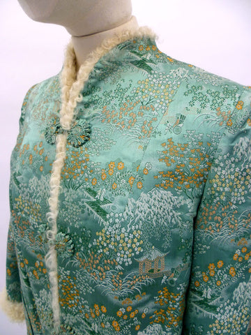 VINTAGE 30s SILK BROCADE JACKET 12