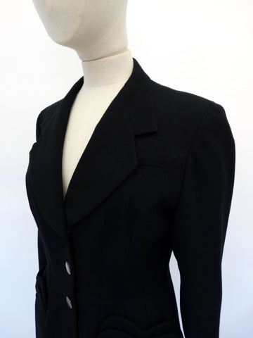 VINTAGE 40s 50s WOOL DECO JACKET 10