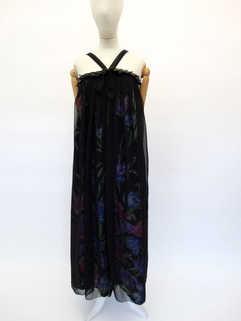 VINTAGE 1970s JEAN VARON MAXI DRESS 12