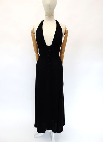 VINTAGE 1970s OSSIE CLARK MAXI DRESS 8