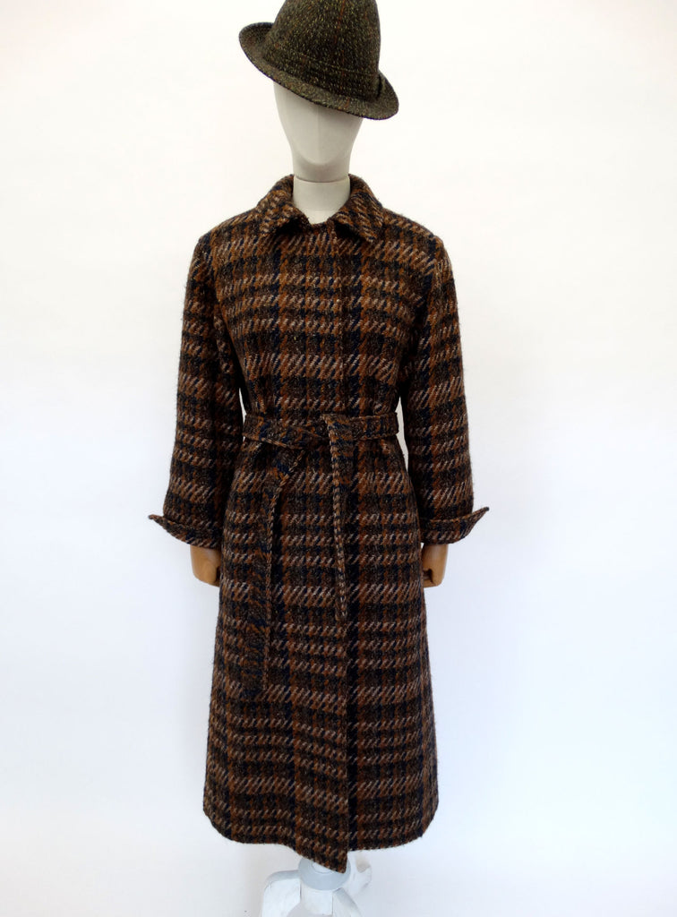 VINTAGE 1970s AQUASCUTUM TWEED COAT 16