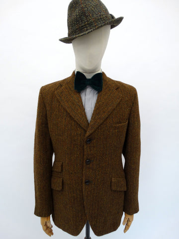 vtg 1971-dated HARRIS TWEED BLAZER 42 REG