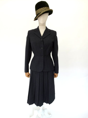 VINTAGE 1950s RICHMOND SKIRT SUIT 8 10