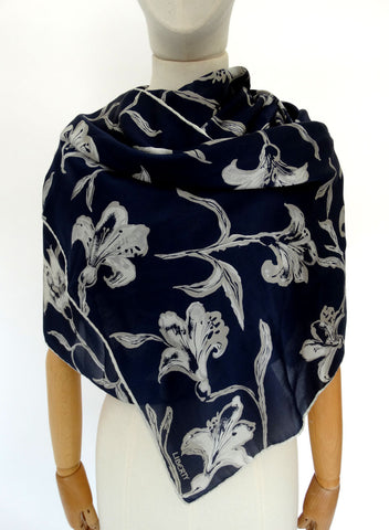 VINTAGE 1980s LIBERTY SILK LONG SCARF