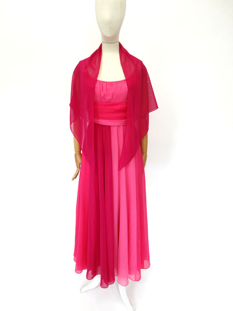 VINTAGE 1970s SUSAN SMALL MAXI DRESS 8