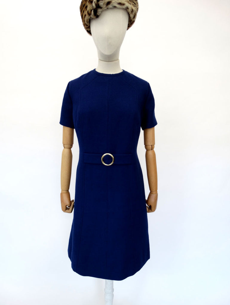 VINTAGE 1960s WOOL SCOOTER DRESS 14