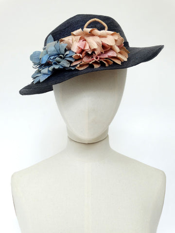 VINTAGE 1930s SUMMER STRAW BRAID HAT