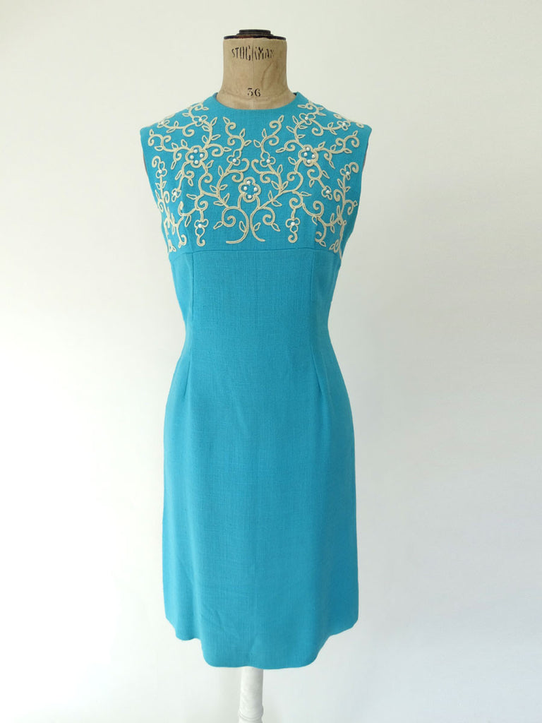 VINTAGE 1960s LINZI LINE SHIFT DRESS 8