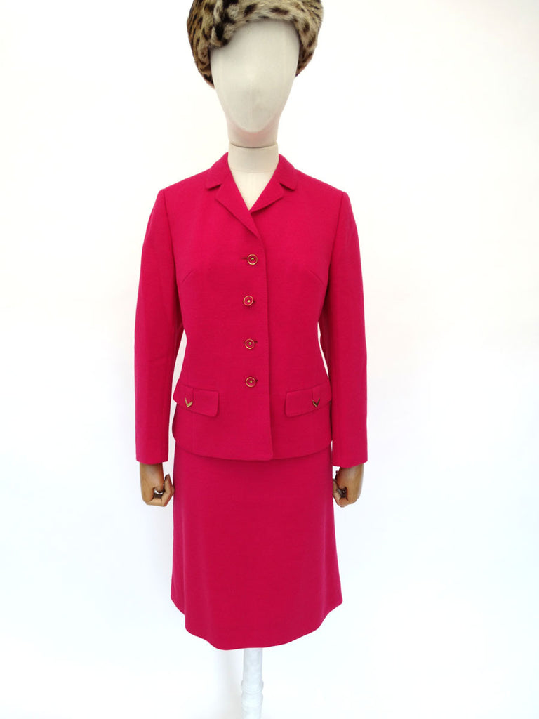 VINTAGE 1960s CRESTA WOOL SKIRT SUIT 12