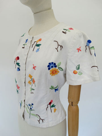 VINTAGE 1930s EMBROIDERED SHIRT 12