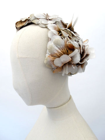 VINTAGE 1950s FLORAL COCKTAIL HAT