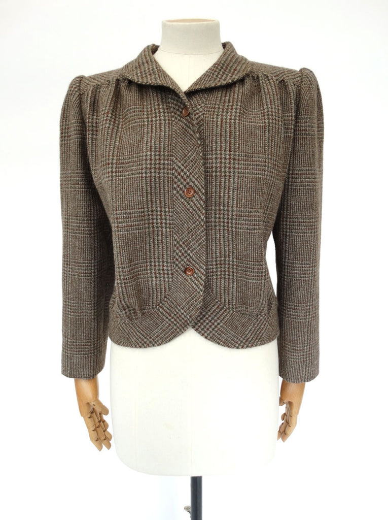 VINTAGE VALENTINO TWEED JACKET 12