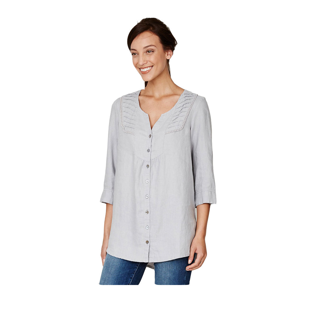 Thought 100% Hanf Bluse taupe