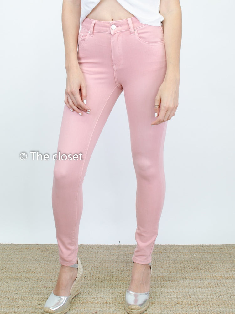Denim pitillo rosa