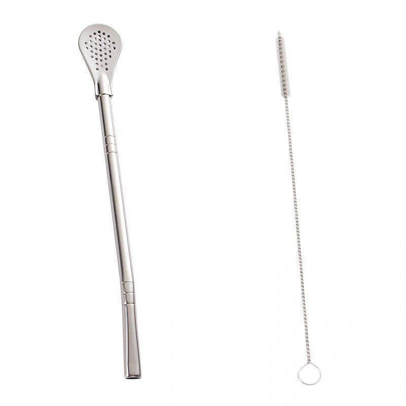 304 Stainless Steel Straws Head Filter Reusable Filter Spoon