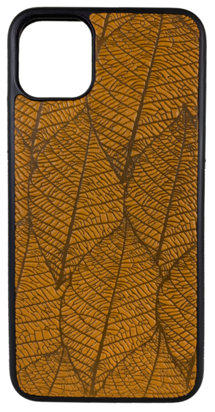 Fallen Leaves Leather iPhone Case