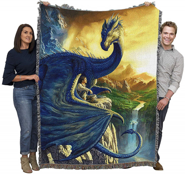 Blue Dragon Tapestry Blanket