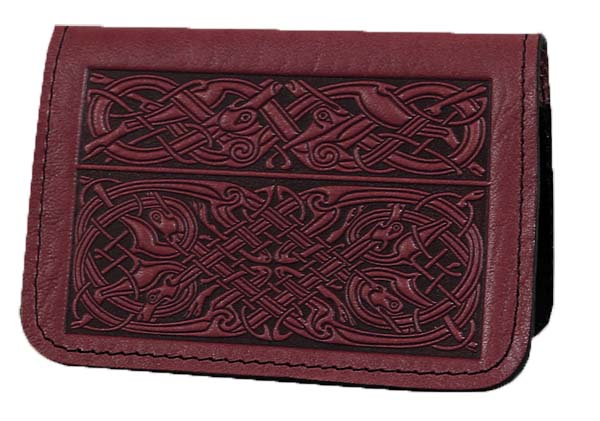Celtic Hounds Leather Card Holder
