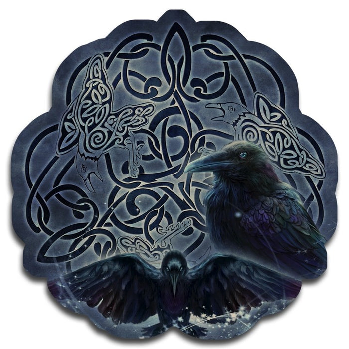 Celtic Raven Wood Wall Plaque