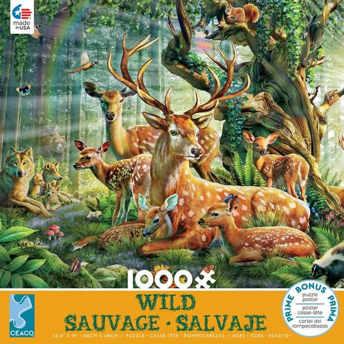 Deer Family Jigsaw Puzzle (1000 Pieces)