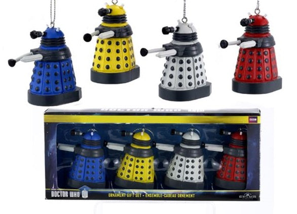 Dr. Who Dalek Ornament Set
