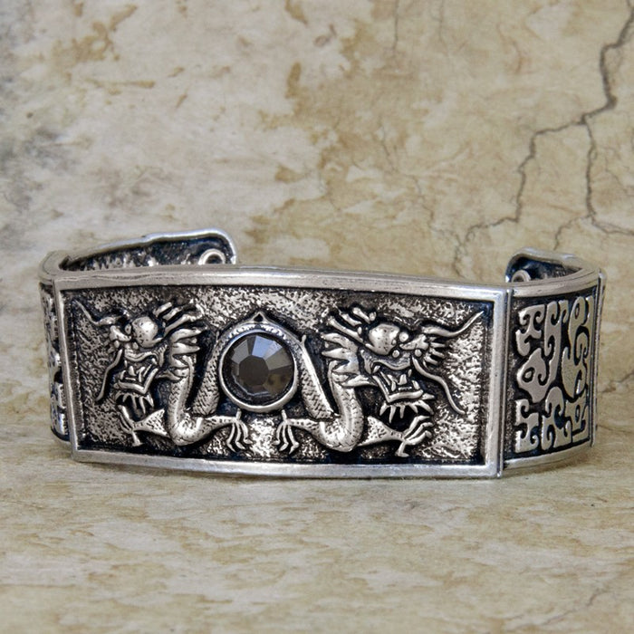 Dragon Cuff Pewter Bracelet
