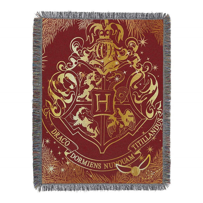 Harry Potter Hogwarts Yule Tapestry Throw Blanket