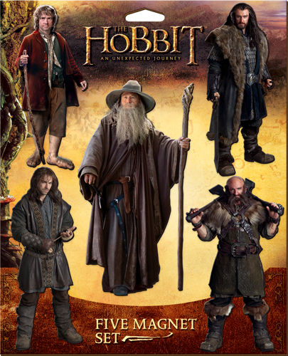 The Hobbit Character Magnet Set