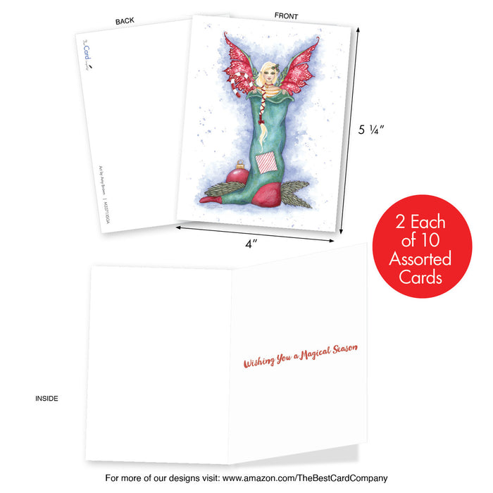 Holiday Fairies Mini Set of Cards