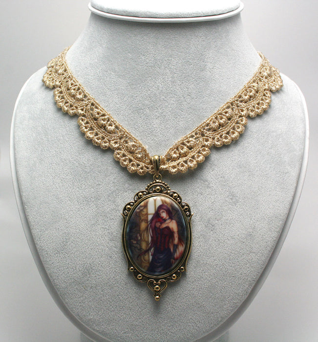 Renaissance Rose Necklace