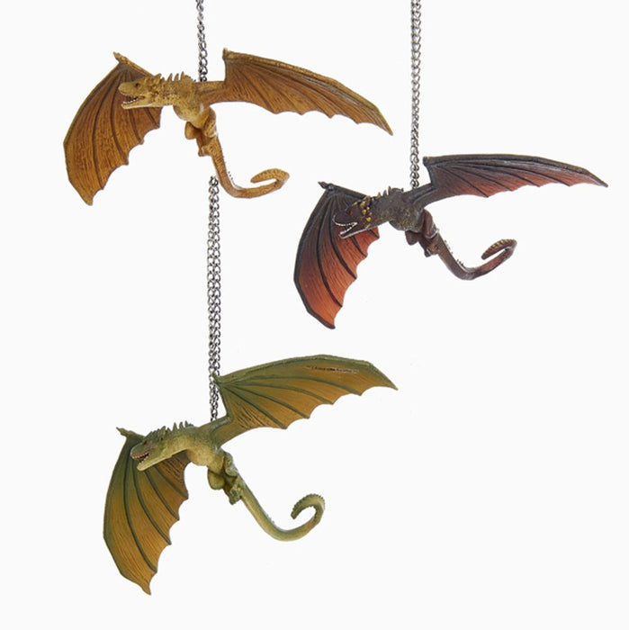Game Of Thrones Dragon Ornaments, 3 Assorted