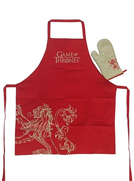 Lannister Apron & Oven Mitt Set: Game of Thrones