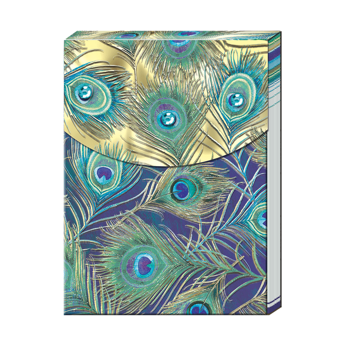 Peacock Feather Pocket Note Pad