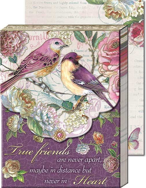 Plum Bird Friends Pocket Note Pad